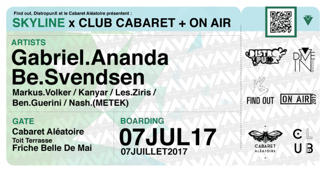 ON AIR x Cabaret : GABRIEL ANANDA + BE SVENDSEN + KANYAR